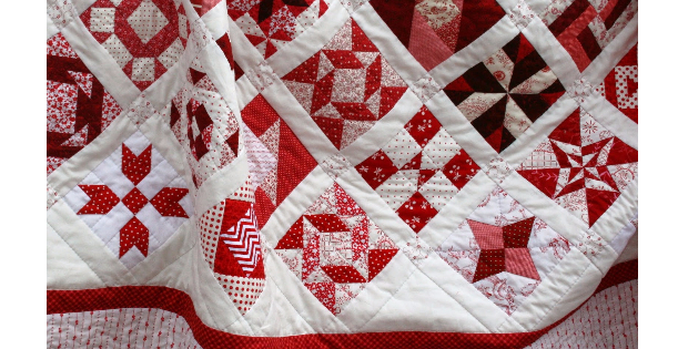 Farmers Wife 1930s Sampler Quilt Comes To Life In Red And White
