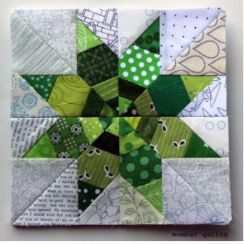 mix and match paper pieced star quilt block