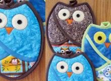 owl potholder owl print