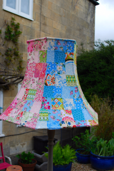 A Cozy Patchwork Lampshade Made With Scraps Quilting Cubby