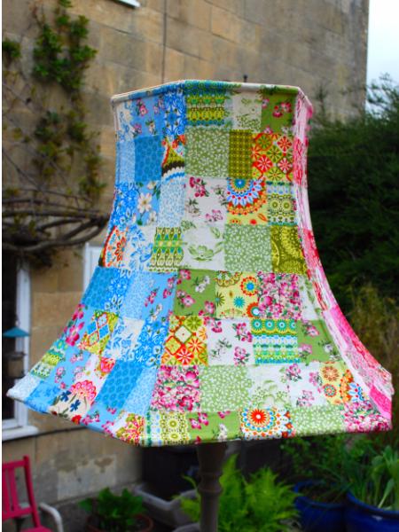 quilting fabric patchwork lamp