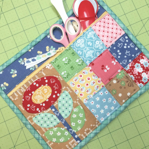 zippered pouch quilted