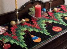 Bargello Christmas table runner pattern