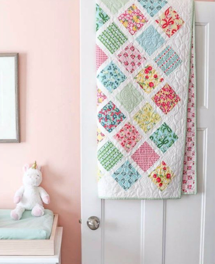 Dainty Darling 5 inch stacker baby quilt