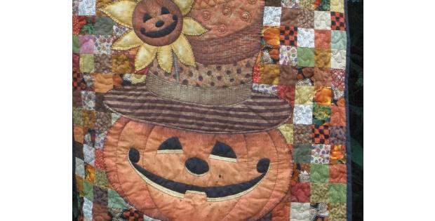 Fabric panels pumpkins