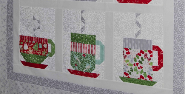 Kate Spain Hot Chocolate cups quilt