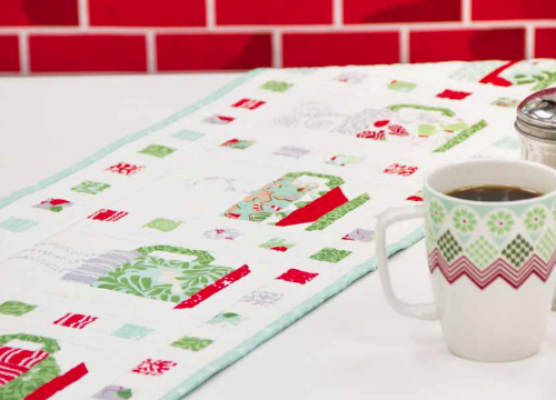 Kate Spain In From Cold cups table runner pattern