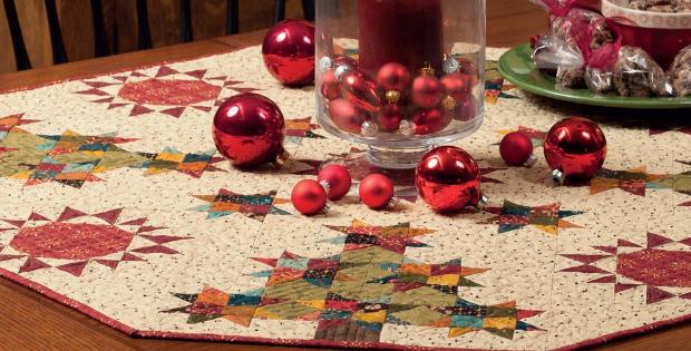 Kim Diehl Simple Tidings table topper Christmas trees