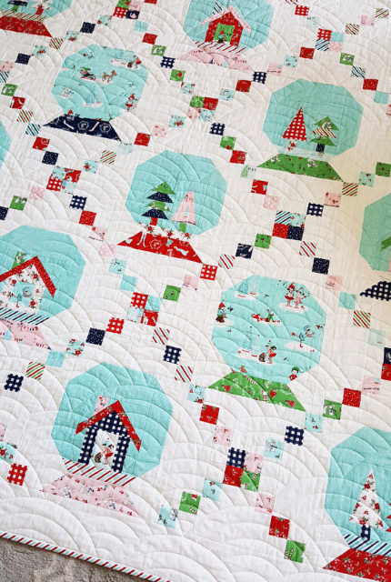Snow Globe and Pixie Noel Mini Quilt With The Easiest Snowball ... : globe quilt - Adamdwight.com