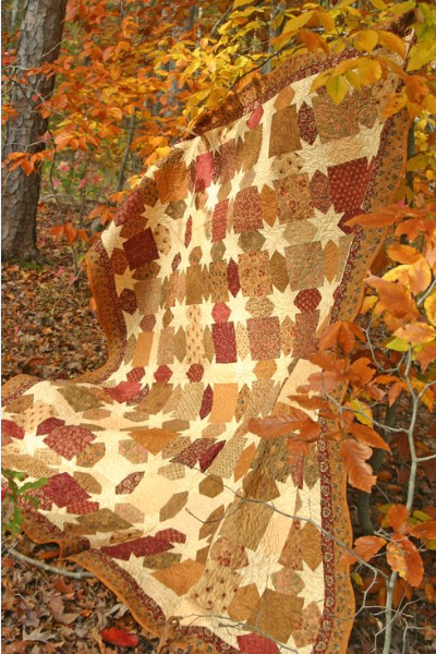 autumn fabric for star quilt