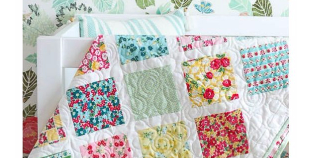 baby quilt charm squares Dainty Darling