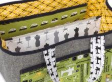 fabric sewing caddy
