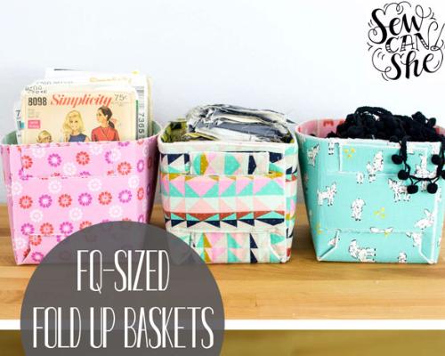 fold up fabric basket