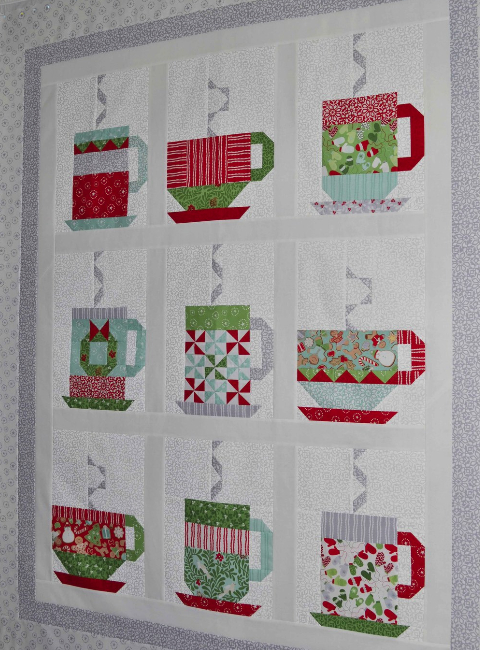 free quilt pattern cups and mugs In from the Cold Kate Sapin