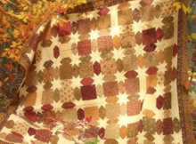harvest fall star quilt in autumn fabric
