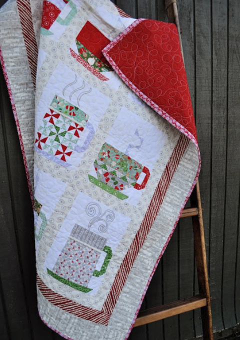 hot cocoa cups wall quilt pattern