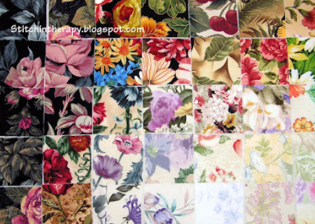 how to make a watercolor quilt with floral fabric