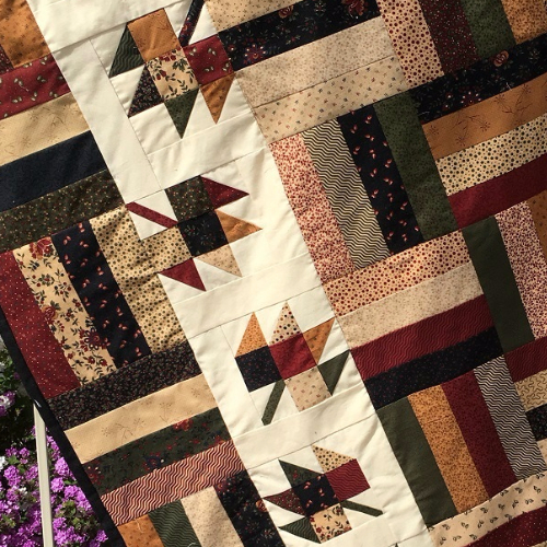 maple leaf quilt pattern autumn