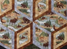 mens quilt Diamonds of Yellowstone Kaye Wood