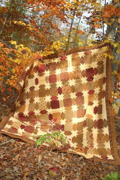 star quilt autumn fabric