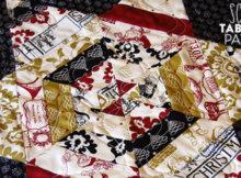 string quilt stars table runner
