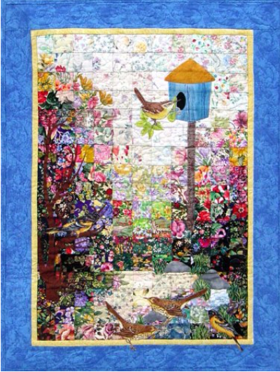 whims watercolor quilt kit birdhouse