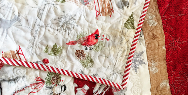 winter celebrations fabric red rooster strip quilt pattern