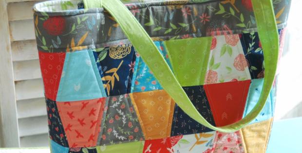 Aubri tote Creekside fabric charm pack