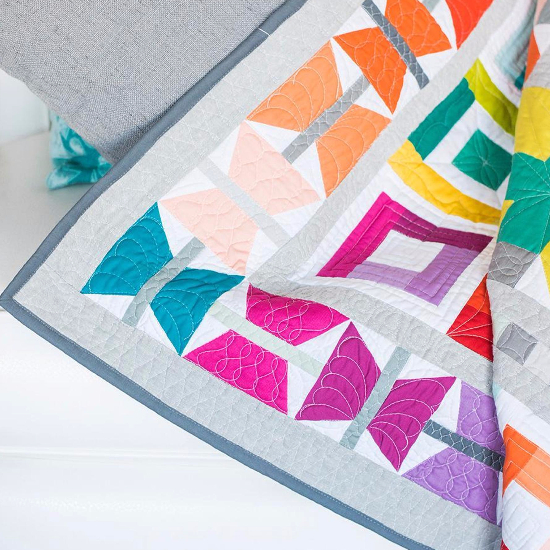Aviatrix patchwork birds and butterfly's quilt