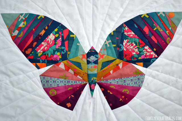 Butterfly mini quilt pattern Take Wing