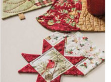 Christmas mug rugs star bell Christmas tree