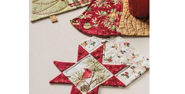 Christmas mug rugs star bell Christmas tree
