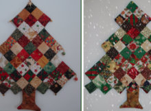 Christmas ornament Trees quilted patchwork