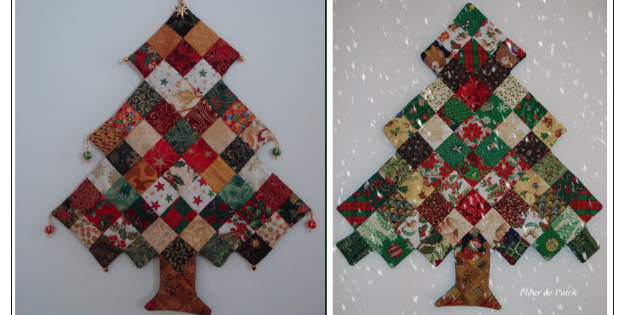 A Patchwork Christmas Ornament Christmas Tree To Add To Your Holiday Decor - A Patchwork Christmas Ornament Christmas Tree To Add To Your Holiday