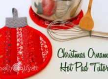 Christmas ornament pot holder