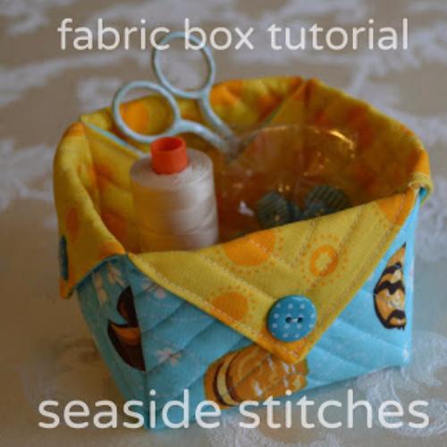 Fabric box using 10 inch squares