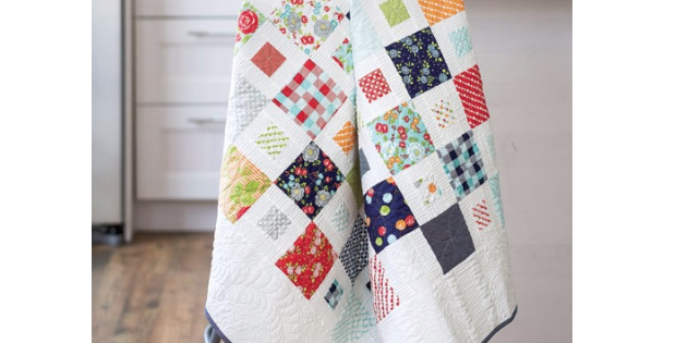 Happy Happy scrap quilt pattern Fons and Porter