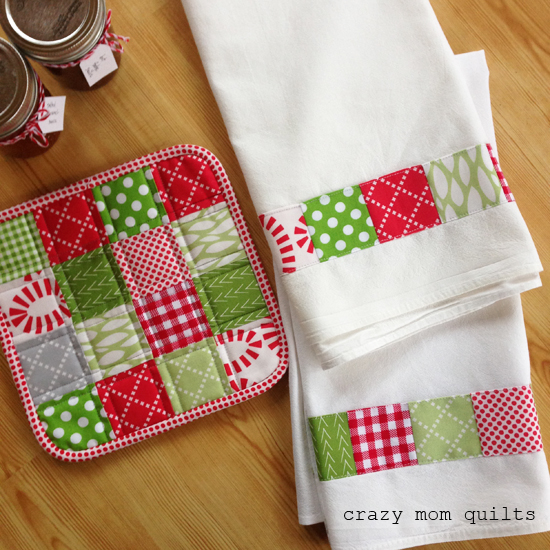 Mini Charm Squares Patchwork dish towel