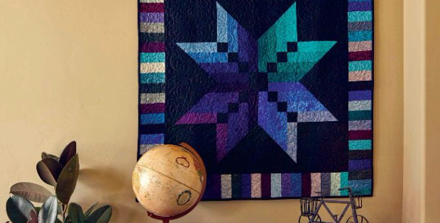 A Jelly Roll Star Quilt Using Just One Binding Tool Quilting Cubby