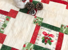 Quilt As You Go Made Vintage Christmas table topper