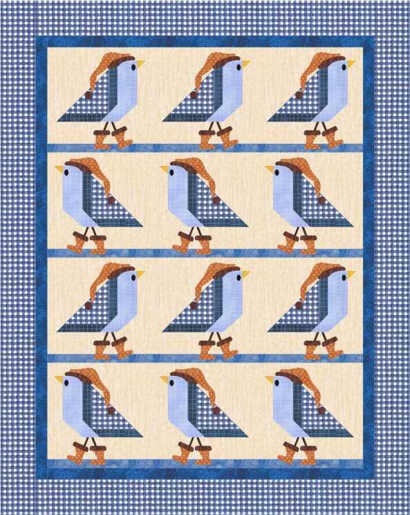 Quiltmakers 1000 Blocks Bluebirds