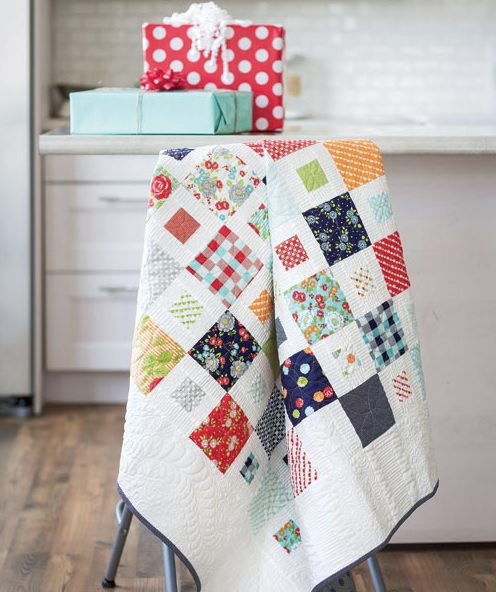 Scrap quilt pattern Fons and Porter