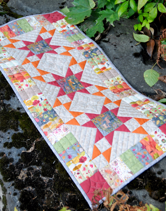 Table Runner Autumn In Bluebell Wood