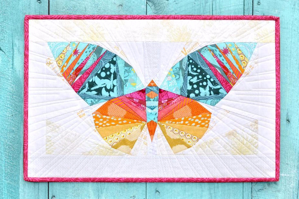 Take Wing paper piecing butterfly