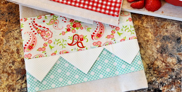 Quilting Ideas For Kitchen : Prairie Point Tea Towels For Any Time Of Year Quilting Cubby