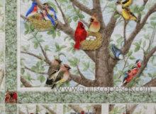 bird panel fabric