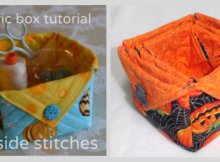 fabric boxes with button flaps