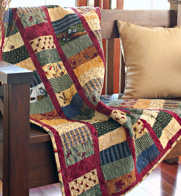 Quilts For Men Who Love The Outdoors Winter Or Summer Quilting Cubby
