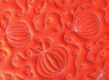 free motion quilt a pumpkin patch
