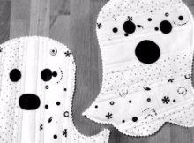 ghost mug rugs
